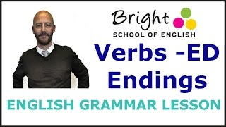 Regular Verbs -ED Endings - English Grammar Lesson - Bright School