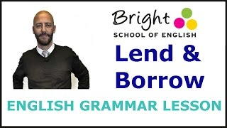 Difference between Lend and Borrow - English Grammar Lesson - Bright School